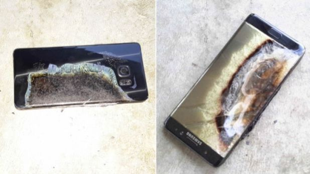 The Galaxy Note 7 that started a small hotel fire