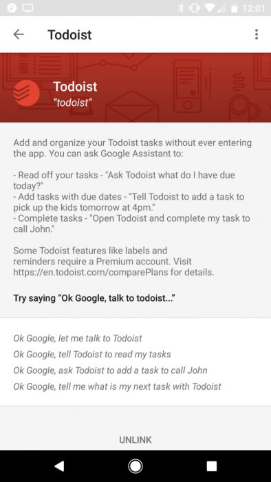Feature Highlight: Todoist integration with to Google Home