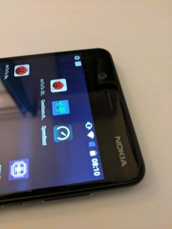 Nokia logo on top right corner