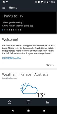 Alexa App - Home
