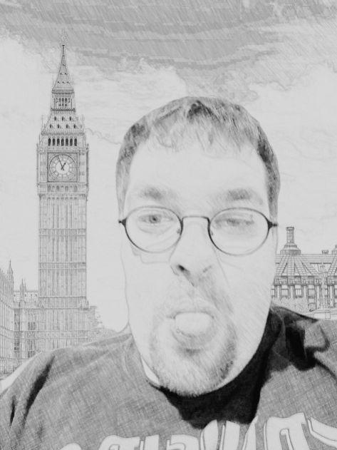 AR Sticker Photo Background - London