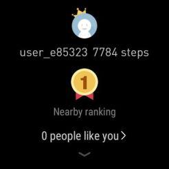 Ticwatch Pro - Step Ranking