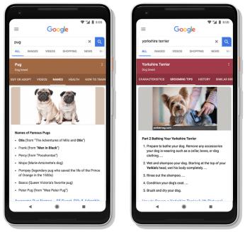 Google 1 - Grouped Topics