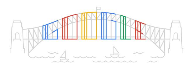 Google Doodle - Harbour Bridge 80th Birthday