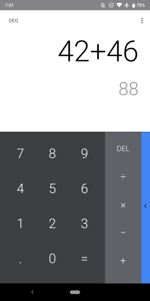 Version 7.4 of Google Calculator - Screenshot 2
