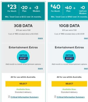 Optus Mobile Broadband Plans 1