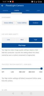Swann app video settings