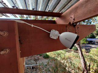 Swann Spotlight Camera installed