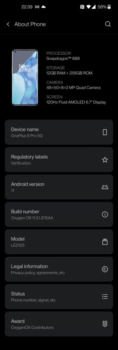 OP9 Pro system detial