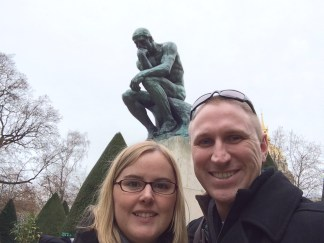 Us with The Thinker