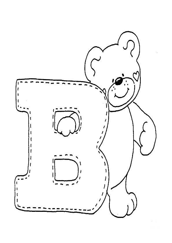 Buchstaben B Ausmalbilder
