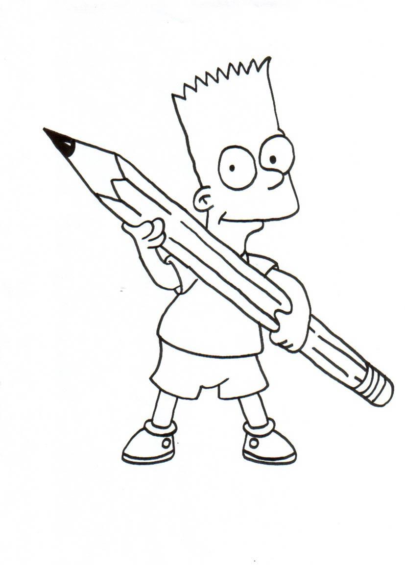 Ausmalbilder Von Die Simpsons Bart Ausmalbilder