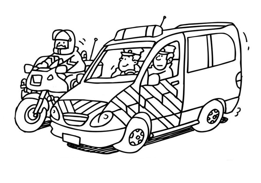 playmobil polizeiauto ausmalbild