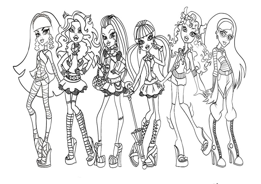 Monster High Coloring Pages Baby Cleo Monster Coloring Pages 2