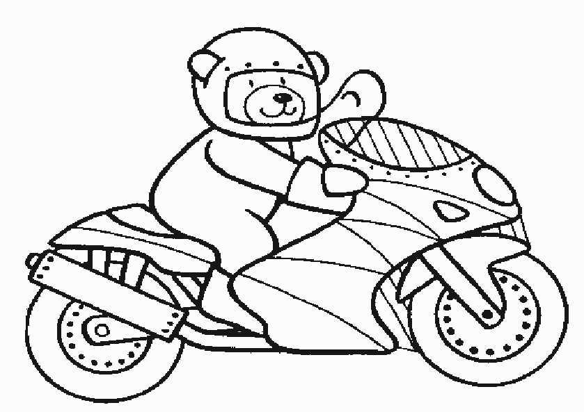 Ausmalbilder Motorrad 4 Ausmalbilder Kostenlos