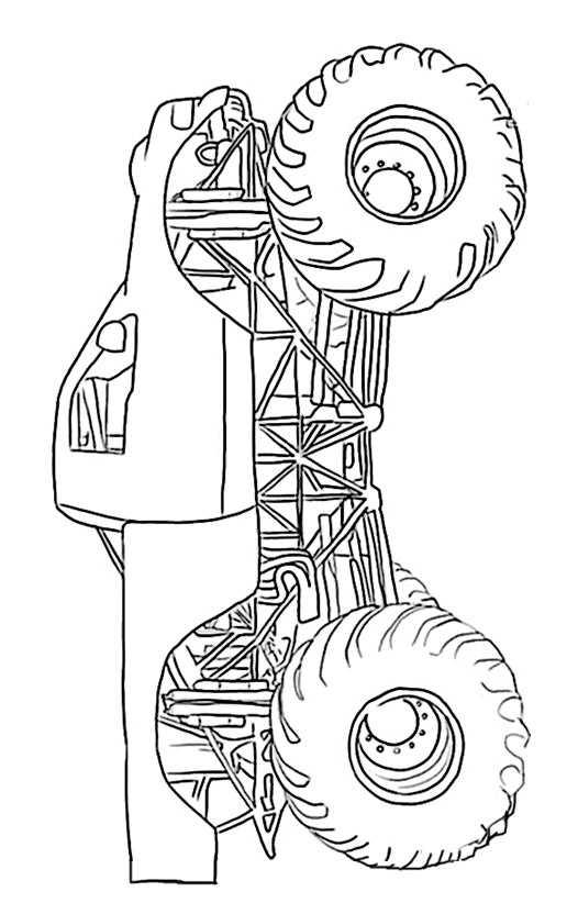 Ausmalbilder Kostenlos Monster Truck 3 Ausmalbilder
