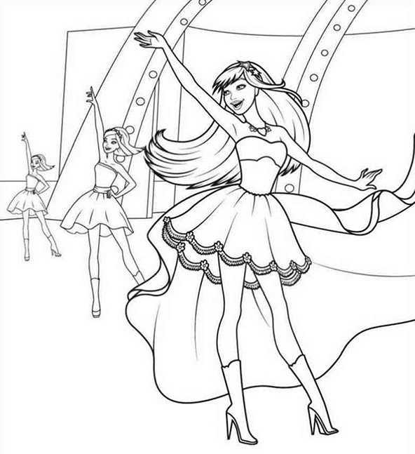 Ballerina 2 Ausmalbilder Kostenlos