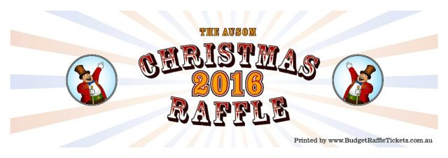 AUSOM 2016 Raffle Ticket Outer colour
