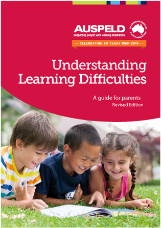 Red cover from AUSPELDs Understanding Learning Difficulties: A guide for Parents - Revised edition