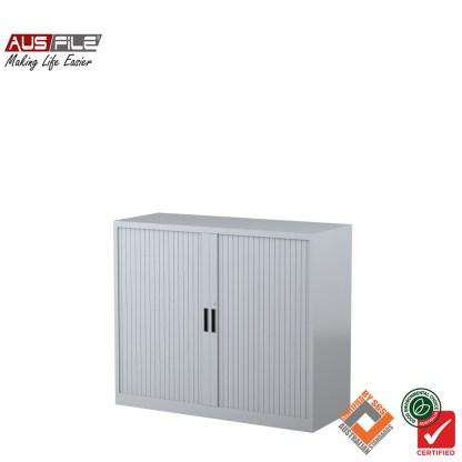 Ausfile tambour door cabinets silver grey 1020mm H x 1200mm W