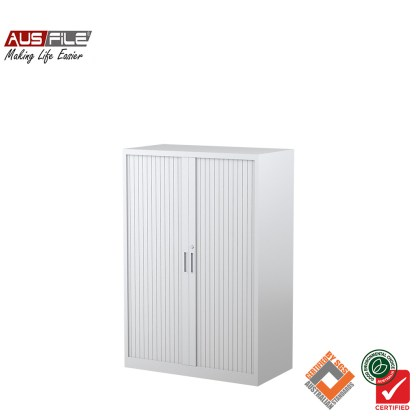 Ausfile tambour door cabinets white 1340mm H x 900mm W