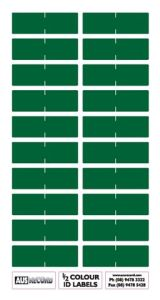Half size Colour ID Labels. Dark Green