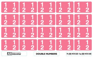 Double Number Labels. 12. Pink