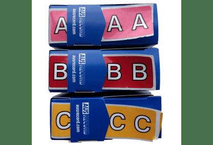 Ausrecord alpha label rolls