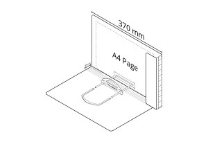2D File White with LP Tube Clip