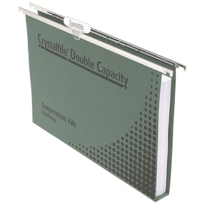 CRYSTALFILE® 111250CY COMPLETE SUSPENSION FILES FOOLSCAP DOUBLE Capacity 50 Pack