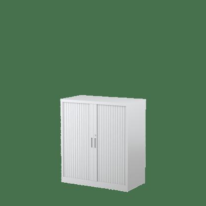 STEELCO Tambour Door Cabinet 1015H x 900W x 463D - 2 Shelves-WS