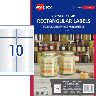 avery 980019 l7113 crystal clear rectangular labels for products