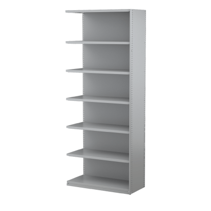 Ausrecord Steel Bookcase Shelving Add-on Bay 900mm Wide Grey