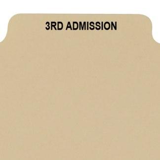 3rd admission divider buff manilla