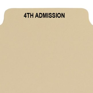 4th admission divider buff manilla