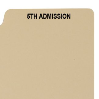 5th admission divider buff manilla