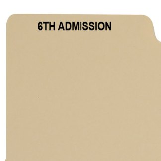 6th admission divider buff manilla