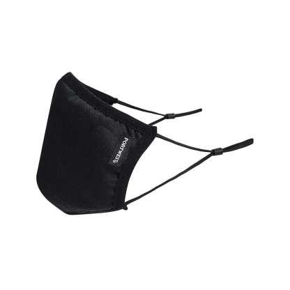 black anti micro face mask
