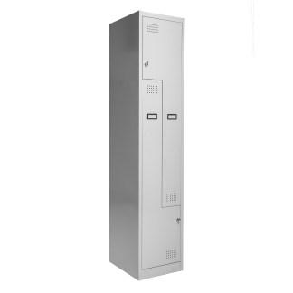 Ausrecord Exceed 2 Door Z Combination Locker Light Grey Front Quarter