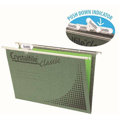 Crystalfile Classic Foolscap COMPLETE - Pack of 50 - 111130C