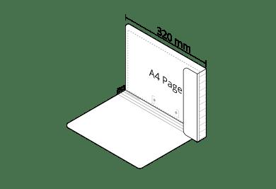 2D A4 File in White