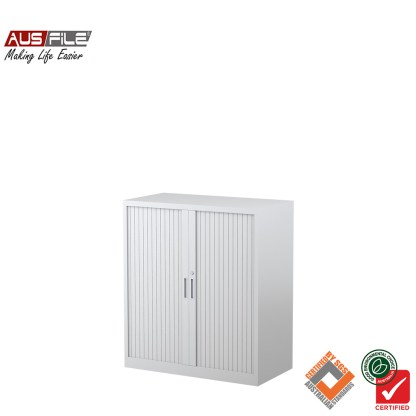 Ausfile tambour door cabinets white 1020mm H x 900mm W