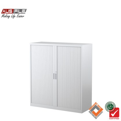Ausfile tambour door cabinets white 1340mm H x 1200mm W