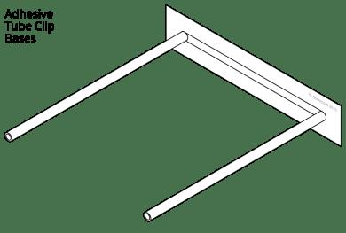 Adhesive tube clip bases