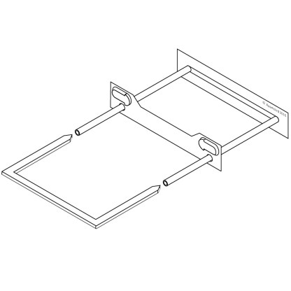 Ausrecord tube clip traditional tube clip sets white