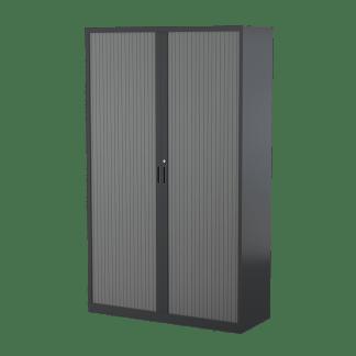 STEELCO Tambour Door Cabinet 2000H x 1200W x 463D - 5 Shelves-GR