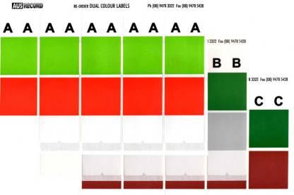 Dual colour alphabet labels