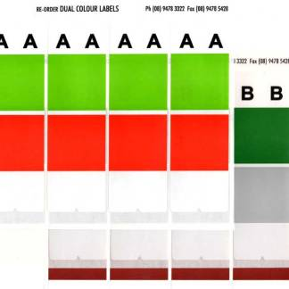 Dual colour alphabet labels