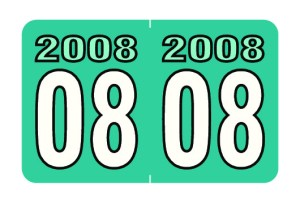 2008 Year Labels