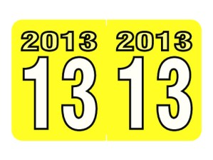 2013 Year Labels